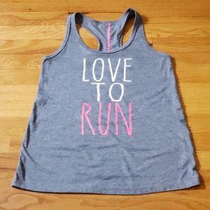 DANSKIN Now Loose Love To Run workout tank top S